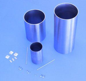Rhenium microtubing and tungsten tags supplied by Ultramet
