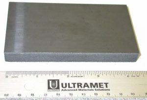 "Ultramet fabricates foam heat sinks up to 12"" × 12""."