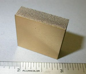 Silicon carbide foam heat sink with silicon carbide faceplate used as a heat spreader