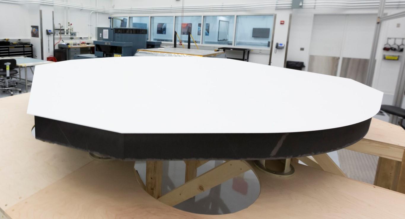 Parker Solar Probe Heat Shield on Table